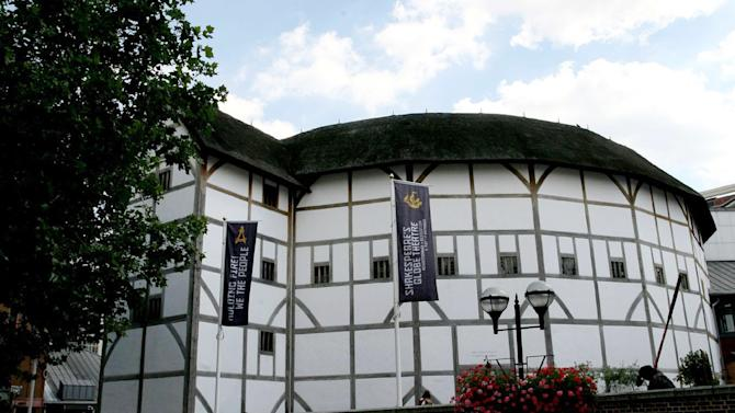 """FILE - An Aug. 1, 2007, photo from files showing a general view of The Globe Theatre, central London. Shakespeare's Globe theater is about to take the Bard's words literally — """"All the world's a stage."""" The London theater says it plans to tour a production of """"Hamlet"""" to every country in the world, 205 nations in all. The small-scale production, performed by a cast of eight, will tour the world between April 2014 and April 23, 2016 — the 400th anniversary of Shakespeare's death. (AP Photo/PA, Stephen Kelly, File) UNITED KINGDOM OUT NO SALES NO ARCHIVE"""