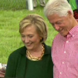 HILLARY CLINTON VISITS IOWA