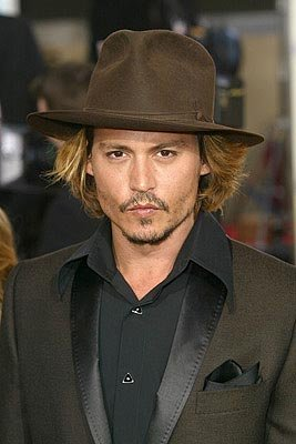 Johnny Depp Golden Globes - 1/25/2004