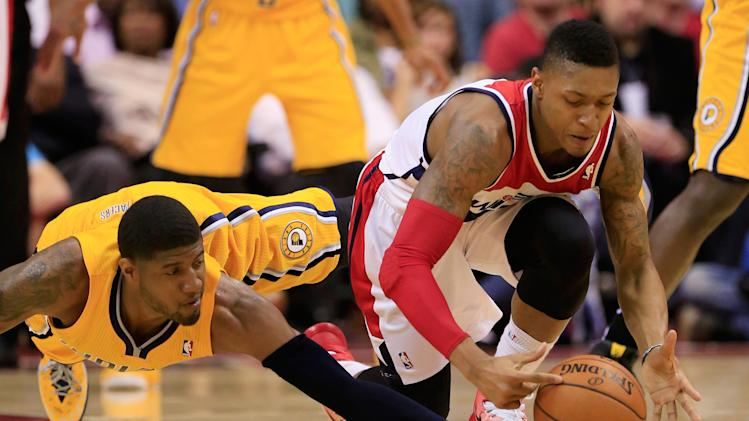 Pacers grind Wizards down, allow franchise playoff record-low 6…