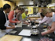 Students at Central Market Cooking Classroom