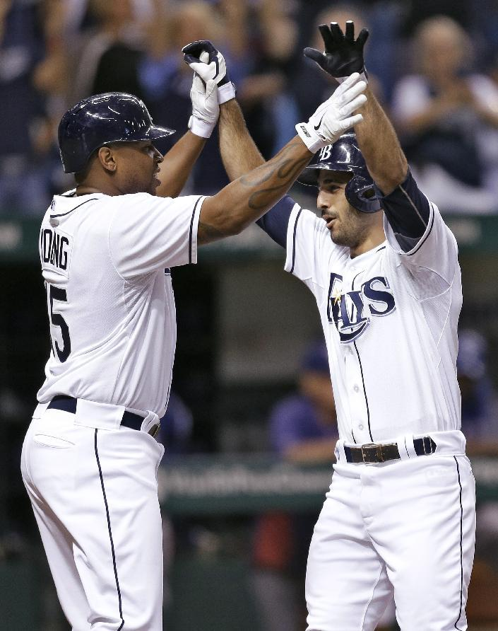 Jennings' RBI single in 12th lifts Rays past Texas