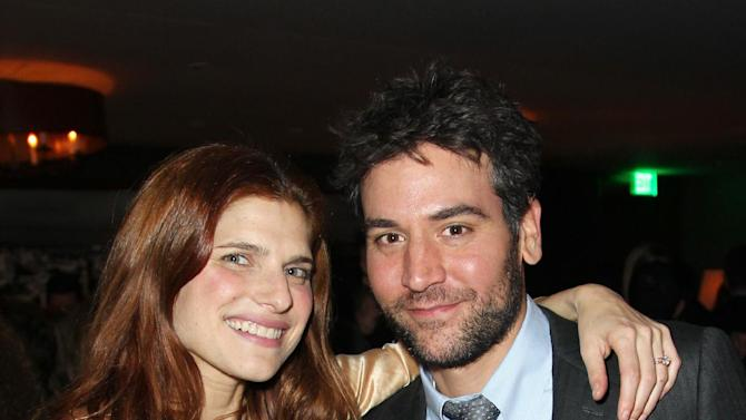 IMAGE DISTRIBUTED FOR DETAILS MAGAZINE - Lake Bell, left, and Josh Radnor attend DETAILS Hollywood Mavericks Party on Thursday, Nov. 29, 2012 in Los Angeles. (Photo by Matt Sayles/Invision for Details Magazine/AP Images)