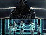 Wonder Girls and Akon perform together