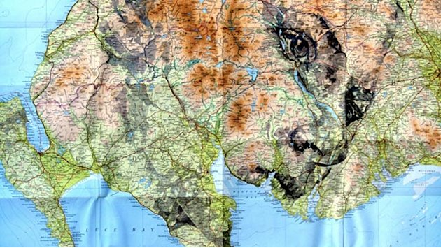 Artist Uses Maps to Make Incredible Portraits