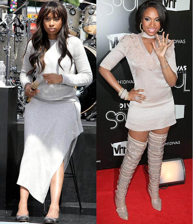 Jennifer Hudson weight loss: Weight Watchers owe a lot to Jennifer, she's their most famous success story. But this year the star also dropped more pounds after working hard at the gym!