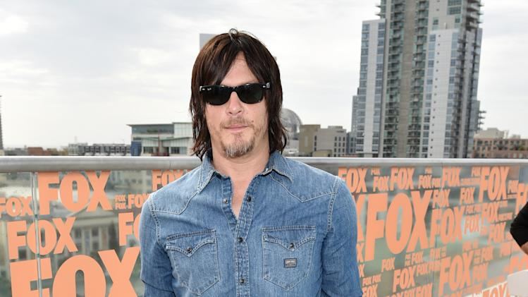"IMAGE DISTRIBUTED FOR AMC - Norman Reedus attends AMC's ""The Walking Dead"" breakfast on Day 2 of Comic-Con International on Friday, July 25, 2014, in San Diego. (Photo by John Shearer/Invision for AMC/AP Images)"