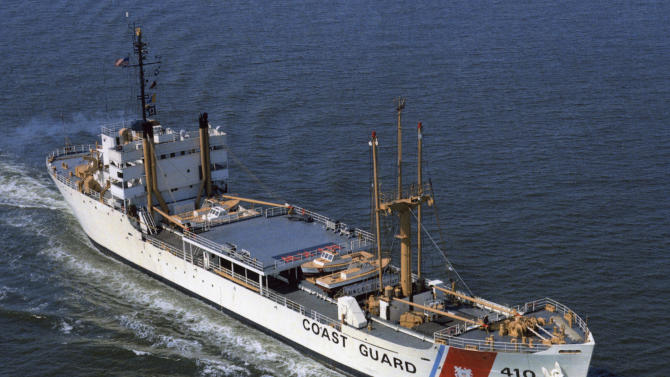 This circa 1966-68 photo released by the U.S. Coast Guard, and provided by the USCGC Courier/VOA Memorial Foundation shows the cutter Courier, then based in Yorktown, Va., after it was converted to a training vessel. In the midst of the Cold War, the ship was on a mission named Operation Vagabond, deployed as a radio relay station to broadcast Voice of America programs into parts of the Soviet Union, communist bloc countries and the Middle East. The Coast Guard Museum at the Coast Guard Academy in New London, Conn., will mark the 50th anniversary of the mission's end with an exhibit beginning June 19, 2014. (AP Photo/U.S. Coast Guard via the USCGC Courier/VOA Association)