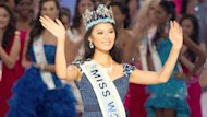 Miss China, Yu Wenxia, wins the coveted title on home soil. rt.