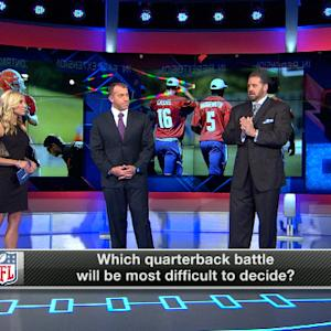 Which quarterback battle is the toughest to decide?