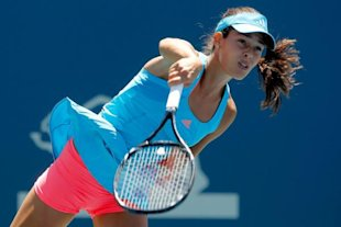 Photo 1 - Ana Ivanovic Of Serbia Serves Getty Images