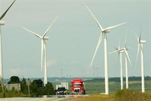 Fifteen new wind turbines were officially opened by Sprott Power Corporation in Amherst