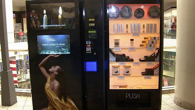 Caviar vending machines unveiled at Los Angeles-area malls