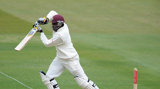 Chris Gayle was dismissed for 101 during the morning session