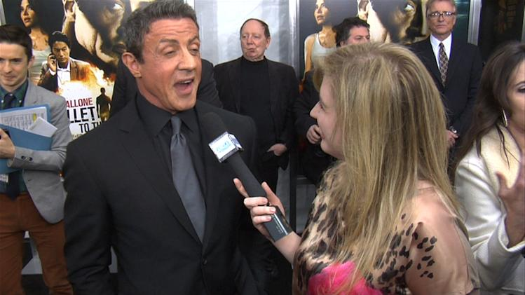 WATCH: Sylvester Stallone Shows Off Some Gray Matter At 'Bullet to the Head' Premiere