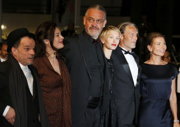 "Director Arnaud des Pallieres and cast members arrive for the screening of the film ""Michael Kohlhass"" in competition during the 66th Cannes Film Festival"