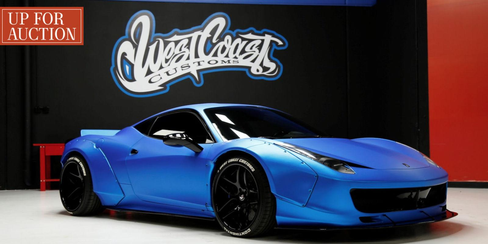 Justin Bieber's Lost Blue Ferrari is Up for Auction