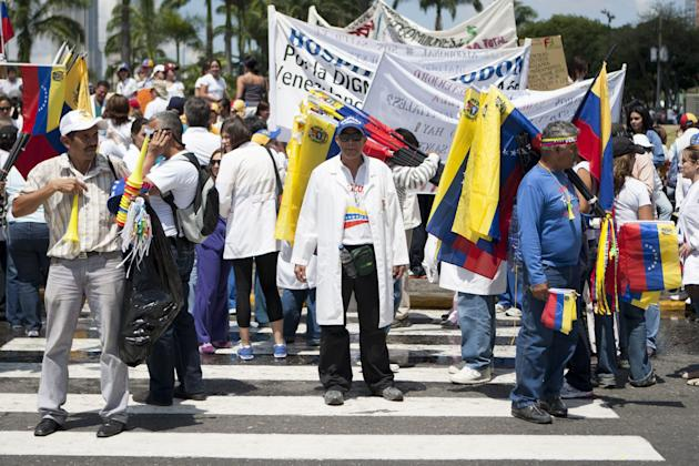Demonstration to dennounce a crisis in the sector of Health in Venezuela