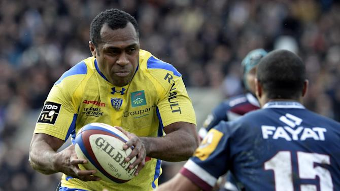 Sitiveni Sivivatu runs with the ball during the French Top 14 rugby Union match between Union Begles Bordeaux and ASM Clermont Auvergne, at Chaban Delmas stadium, on March 1, 2014