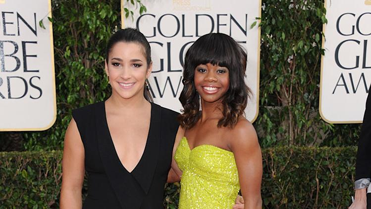 70th Annual Golden Globe Awards: Aly Raisman, Gabby Douglas