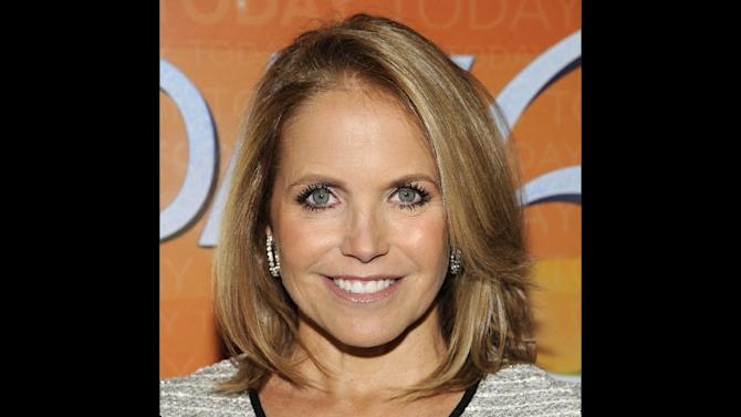 "FILE - In this Jan. 12, 2012 photo, former ""Today"" show hosts Katie Couric attends the ""Today"" show 60th anniversary celebration at the Edison Ballroom in New York.    ABC announced Thursday, March 29, 2012,  that the former ""Today"" show anchor will be guest-hosting ""Good Morning America,"" the rival wake-up show at Couric's current workplace. Beginning Monday, Couric will sub for the vacationing Robin Roberts. She will appear for the week alongside Roberts' regular co-host, George Stephanopoulos. Couric was co-host of NBC's ""Today"" for 15 years before leaving the network in 2006. Before jumping to ABC last year, she was at CBS, where she anchored the ""Evening News.""(AP Photo/Evan Agostini)"