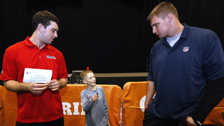 Hunter Paulin, winner of the NFL Play 60 Super Bowl Contest presented