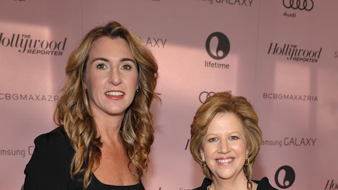 President, Entertainment and Media, A&E Networks Nancy Dubuc, left, and President and CEO, A&E Networks Abbe Raven arrive at The Hollywood Reporter's 21st Annual Women in Entertainment Power 100 breakfast presented by Lifetime on Wednesday, Dec. 5, 2012 in Beverly Hills, Calif.  (Photo by John Shearer/Invision for The Hollywood Reporter/AP Images)