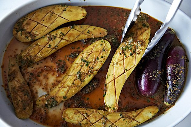 Barbara Kafka's Marinated Eggplant from Food52