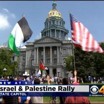 Supporters Of Both Sides Of Middle East Conflict Demonstrate At State Capitol