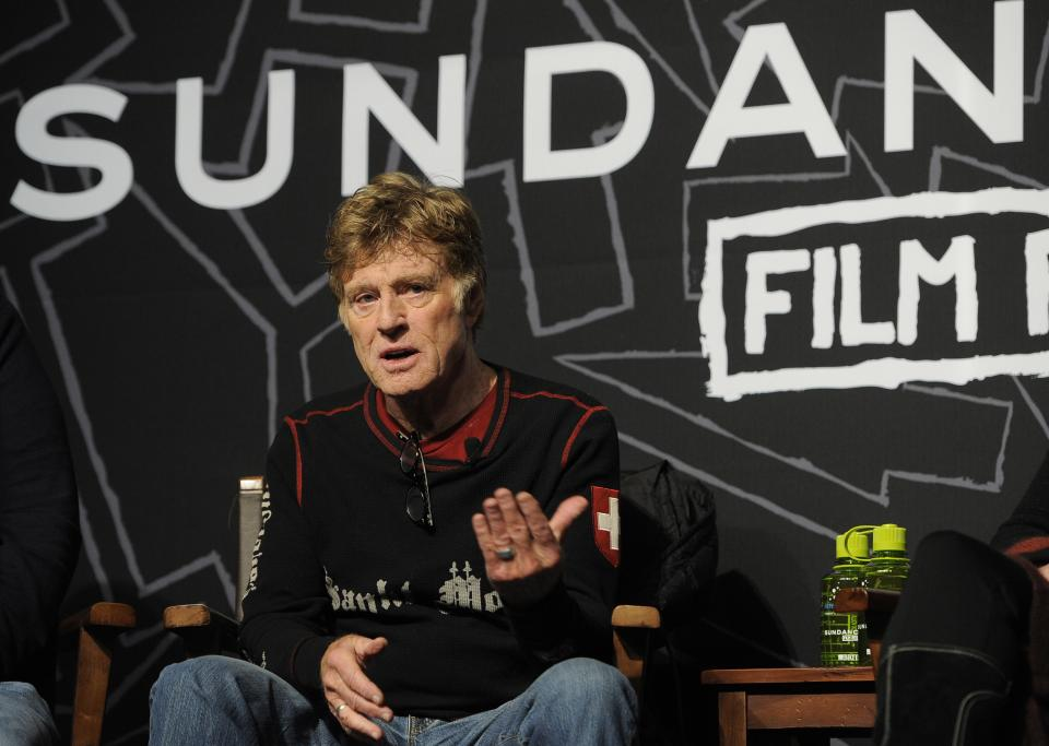 Robert Redford, founder and president of the Sundance Institute, speaks during the opening news conference of the 2013 Sundance Film Festival, Thursday, Jan. 17, 2013, in Park City, Utah. (Photo by Chris Pizzello/Invision/AP)