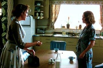 Toni Collette as Kitty and Julianne Moore as Laura in Paramount Pictures and Miramax Films' The Hours