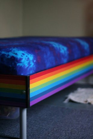 Duct Tape Rainbow Bed
