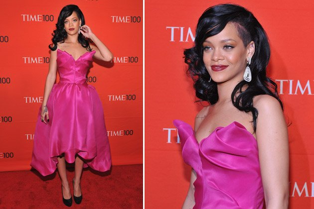Rihanna in New York: Dieses Kleid knallt rein! (Bilder: Getty Images)