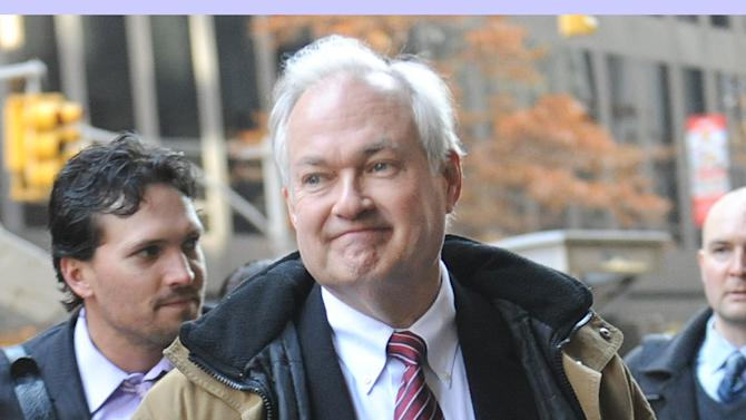 NHL Players' Association executive director Donald Fehr  arrives for labor talks at NHL headquarters in New York, Wednesday, Nov. 21, 2012, in New York. (AP Photo/ Louis Lanzano)