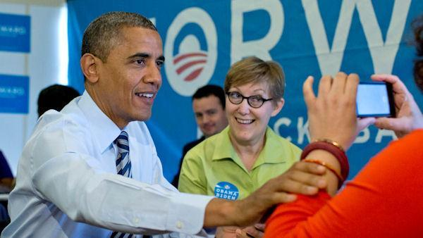 Confident Obama urges supporters to vote
