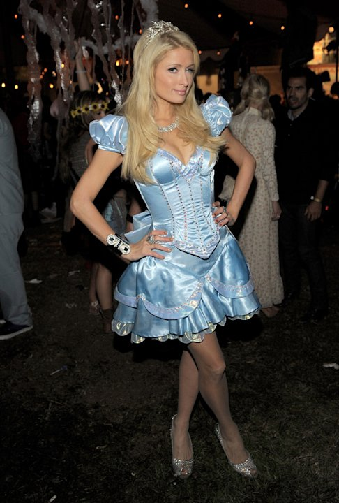 Surprise surprise, Paris Hilton dressed as a princess this year, at the Maroon 5 Halloween Party in Hollywood.