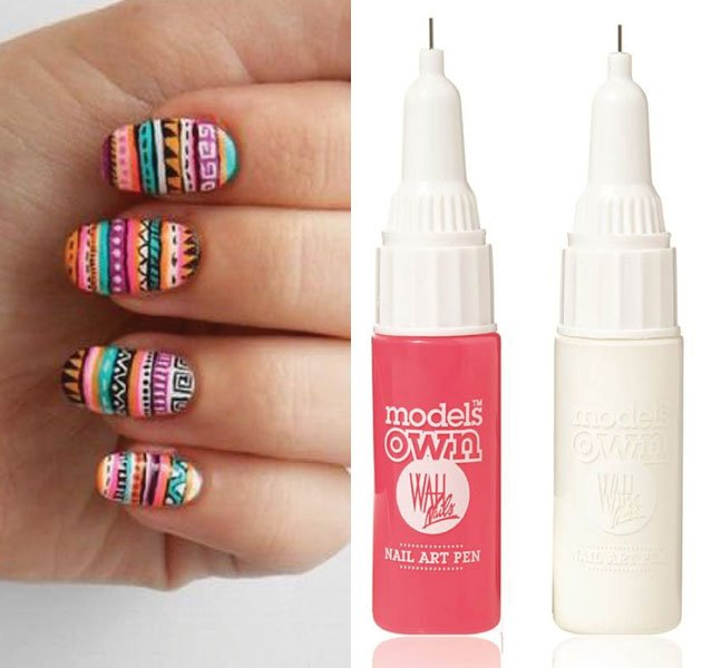 Use nail art pens to create this aztec design [FashionStufff/Twitter ...