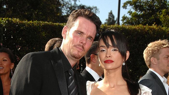 Kevin Dillon and Jane Stuart arrives at the 59th Annual Primetime Emmy Awards at the Shrine Auditorium on September 16, 2007 in Los Angeles, California.