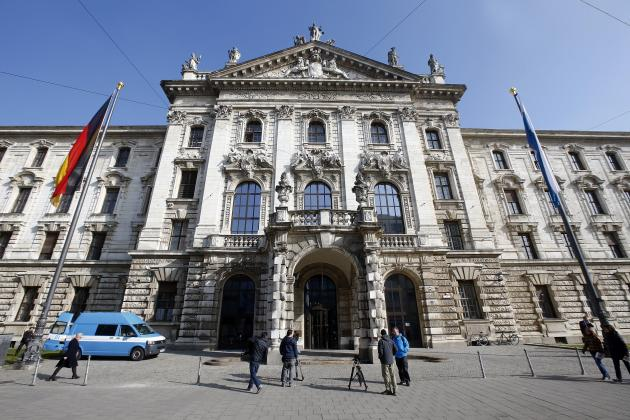 The Munich Landgericht courthouse, where Bayern Munich's President Uli Hoeness will stand trial, is seen in Munich