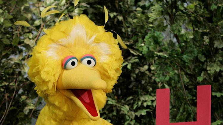 Big Bird in Sesame Street on PBS.