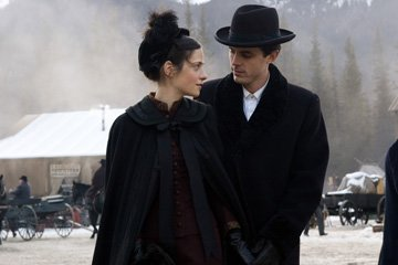 Zooey Deschanel and Casey Affleck in Warner Bros. Pictures' The Assassination of Jesse James by the Coward Robert Ford
