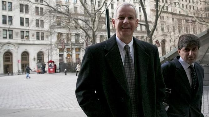 Dish Network Chairman Ergen arrives at the U.S. Bankruptcy Court in Manhattan