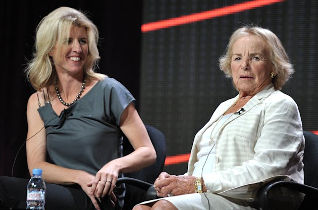 "Director Rory Kennedy, left, and Ethel Kennedy appear onstage during HBO's TCA panel for ""Ethel"" at the Beverly Hilton hotel on Wednesday, Aug. 1, 2012, in Beverly Hills, Calif. Ethel Kennedy and her daughter, Rory, spoke to the Television Critics Association about Rory Kennedy's documentary ""Ethel,"" which will air Oct. 18 on HBO. (Photo by John Shearer/Invision/AP)"