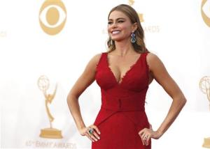 """Actress Sofia Vergara from ABC's series """"Modern Family"""" arrives at the 65th Primetime Emmy Awards in Los Angeles"""
