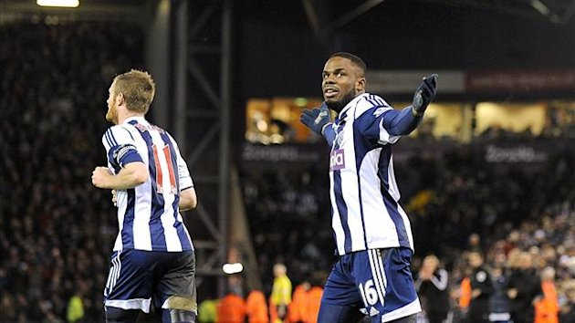 West Bromwich Albion's Victor Anichebe (right) celebrates (PA Sport)