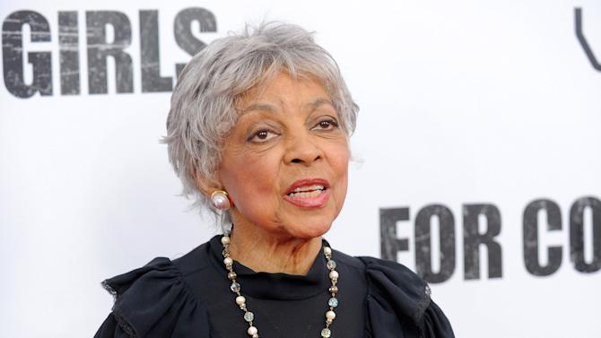 """FILE - This Oct. 25, 2010 file photo shows actress Ruby Dee attends a special screening of """"For Colored Girls"""" at the Ziegfeld Theatre in New York. A public memorial for actress and civil rights activist Ruby Dee will be held Sept. 20 at the Riverside Church in New York. Dee died June 11 at 91. (AP Photo/Evan Agostini, File)"""