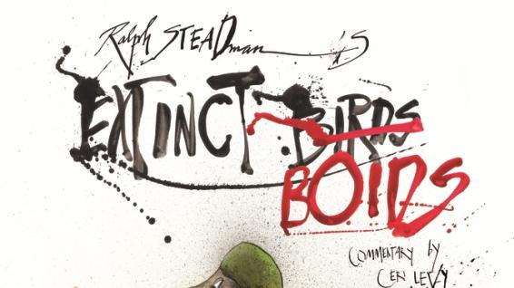 "This book cover image released by Bloomsbury shows ""Extinct Boids,"" by Ralph Steadman. (AP Photo/Bloomsbury)"