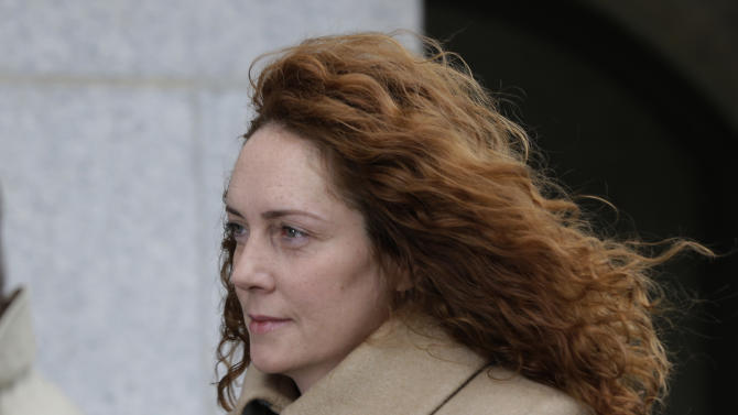 Rebekah Brooks, the former chief of News Corp.'s British operations arrives at the Old Bailey court in London  London, Wednesday, Sept. 26, 2012.  Brooks is  in court to face charges connected to the phone hacking scandal that rocked Rupert Murdoch's News Corp. empire. (AP Photo/Lefteris Pitarakis)