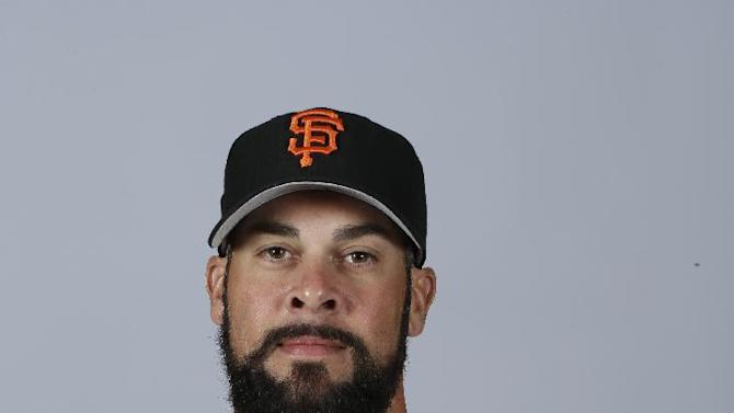 This is a 2015 photo of Ryan Vogelsong of the San Francisco Giants baseball team. This image reflects the Giants active roster as of Feb. 27, 2015, when this image was taken. (AP Photo/Darron Cummings)