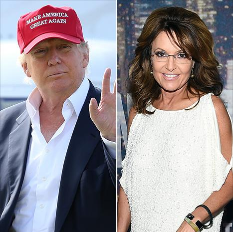 "Donald Trump Gets Interviewed by Sarah Palin, Says She's a ""Terrific Person"""